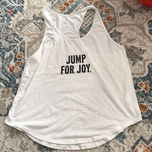"Kate spade ""jump for joy"" tank!"